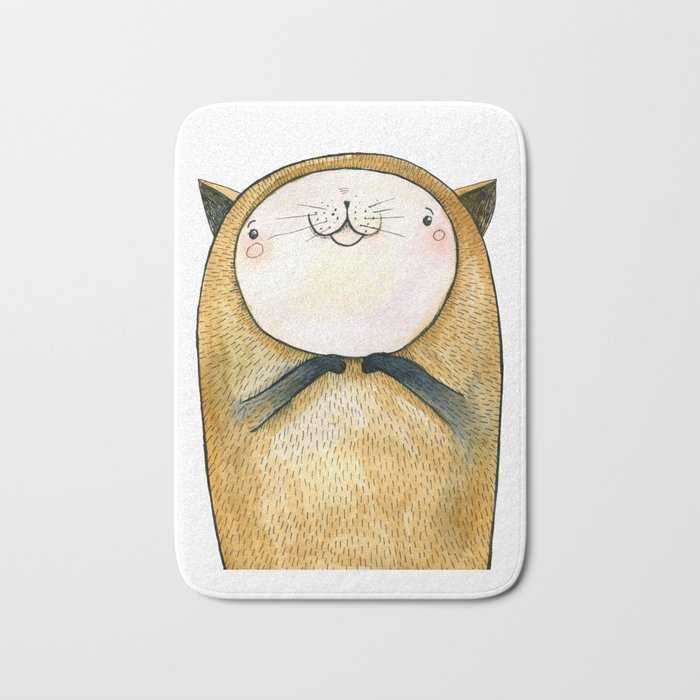 cutie cat Bath Mat