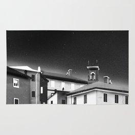 Castles at Night (B&W) Rug