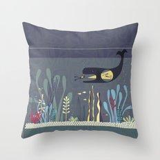 The Fishtank Throw Pillow