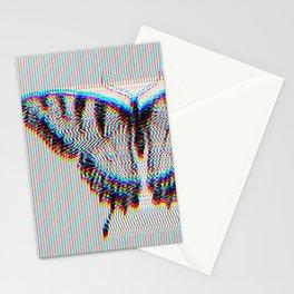 VHS Butterfly Glitch Art Stationery Cards