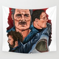 jaws Wall Tapestries featuring JAWS by David Amblard