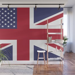 United States and The United Kingdom Flags United Forever Wall Mural