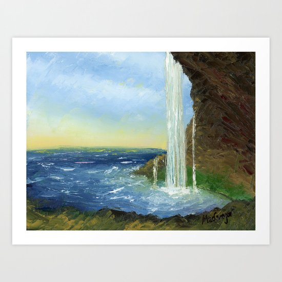 Waterfall by MacGregor Art Print
