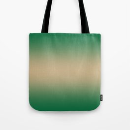 Cadmium Green to Tan Brown Bilinear Gradient Tote Bag