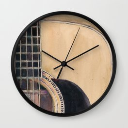 Martin Acoustic Guitar  SSC-D35-14 - from Canada - Watercolor Art Print Wall Clock