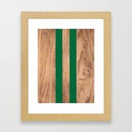 Wood Grain Stripes - Green #319 Framed Art Print
