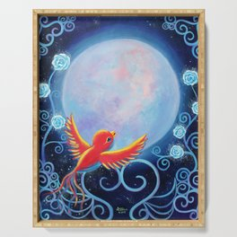 Singing to The Moon Serving Tray