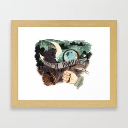 He is a paranormal investigator Framed Art Print