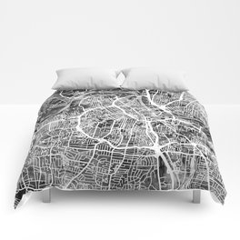 Nashville Tennessee City Map Comforters