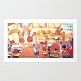 Bunny Bakery Art Print