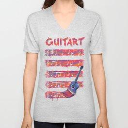 GuitArt Unisex V-Neck
