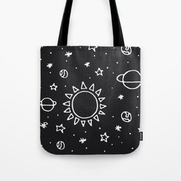 Planets Hand Drawn Tote Bag