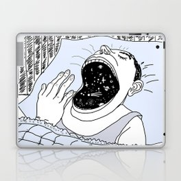 man and the cosmos Laptop & iPad Skin