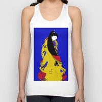 woman Tank Tops featuring Woman  by Saundra Myles