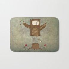 Little Owl Girl Bath Mat