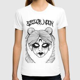 Black Metal Sailor Moon T-shirt