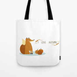 I love Autumm Tote Bag