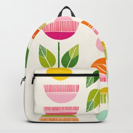 Sugar Blooms - Abstract Retro Inspired Design Backpack
