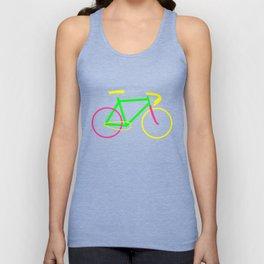 Neon - Bicycle  Unisex Tank Top