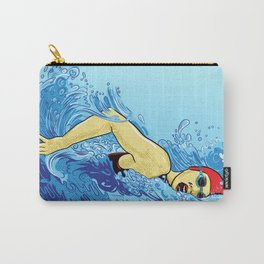 Swimming Girl Carry-All Pouch