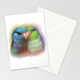 Pacific parrotlet parrot realistic painting Stationery Cards