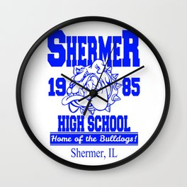 The Breakfast Club  |  Shermer High School Logo  |  John Hughes Universe Wall Clock