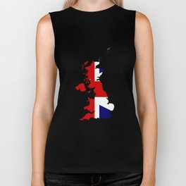 United Kingdom Map and Flag Biker Tank