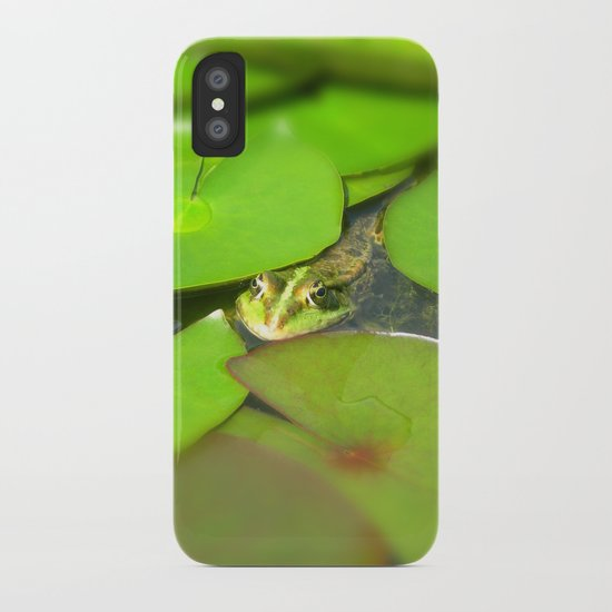 green frog I iPhone Case
