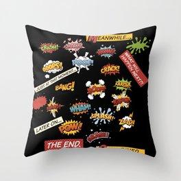 Superhero Wham! Throw Pillow