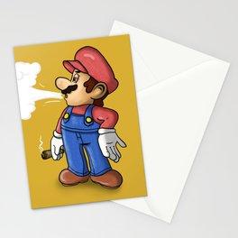 Mario Smoking Stationery Cards