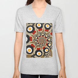 Brunch, Fractal Art Fantasy Unisex V-Neck
