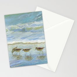 Sandpipers, A Day at the Beach Stationery Cards