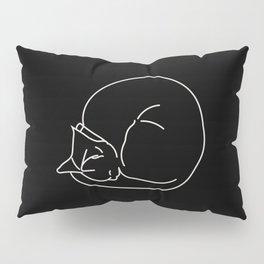 Sleeping Cats #3 - black Pillow Sham