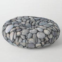 Gray pebbles Floor Pillow