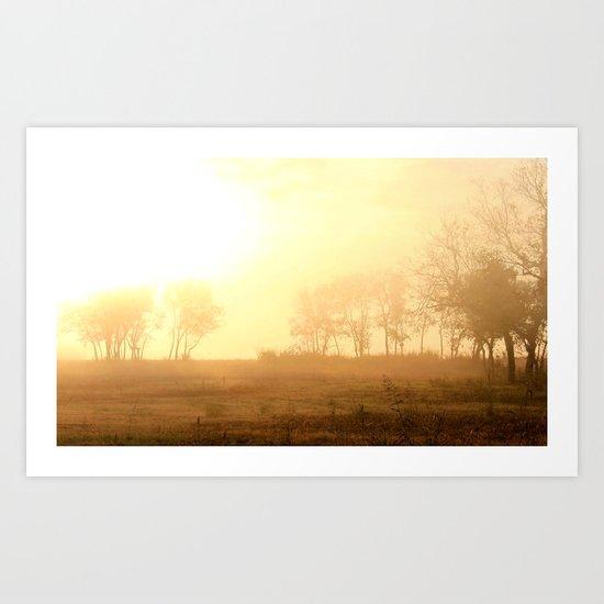awake to fog ...  Art Print