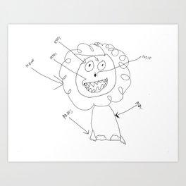 Diagram Lion Art Print