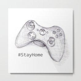 #StayHome Metal Print
