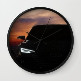 Concept car. Sunset BG Wall Clock