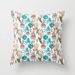 Sea Holly and Shells Throw Pillow