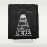 radiohead Shower Curtains featuring Because I'm a Creep by MidnightCoffee