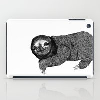 sloth iPad Cases featuring Sloth by E.K Lux