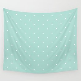 Turquoise Polka Wall Tapestry