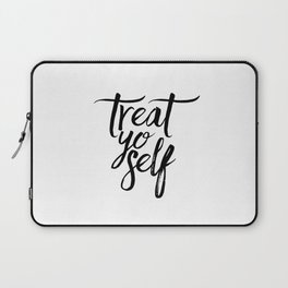 Wall Decor Watercolor Dorm Wall Art Parks and Recreation Print Treat Yo Self Print Funny Quote Print Laptop Sleeve