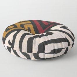 African Mudcloth Print Floor Pillow