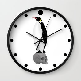 Penguins Standing Guard Wall Clock