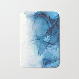 Blue Tides - Alcohol Ink Painting Bath Mat