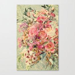 Classy Rococo floral woodpanel Canvas Print