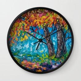SUNRISE TREE (Palette Knife) Wall Clock