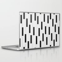 piano Laptop & iPad Skins featuring Piano by beach please