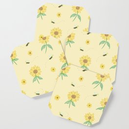 Bee & Sunflower Coaster